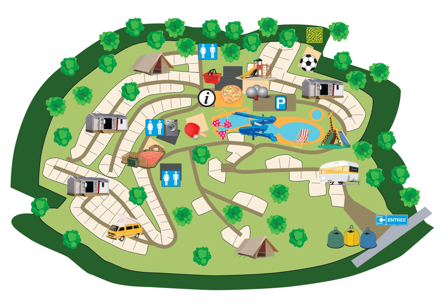 Couriou campsite**** map